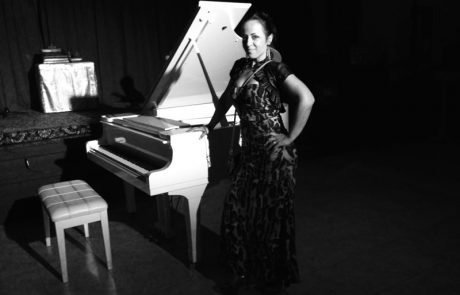 Marta Brankovich and white Piano