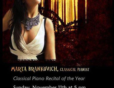 Marta Brankovich classical pianist